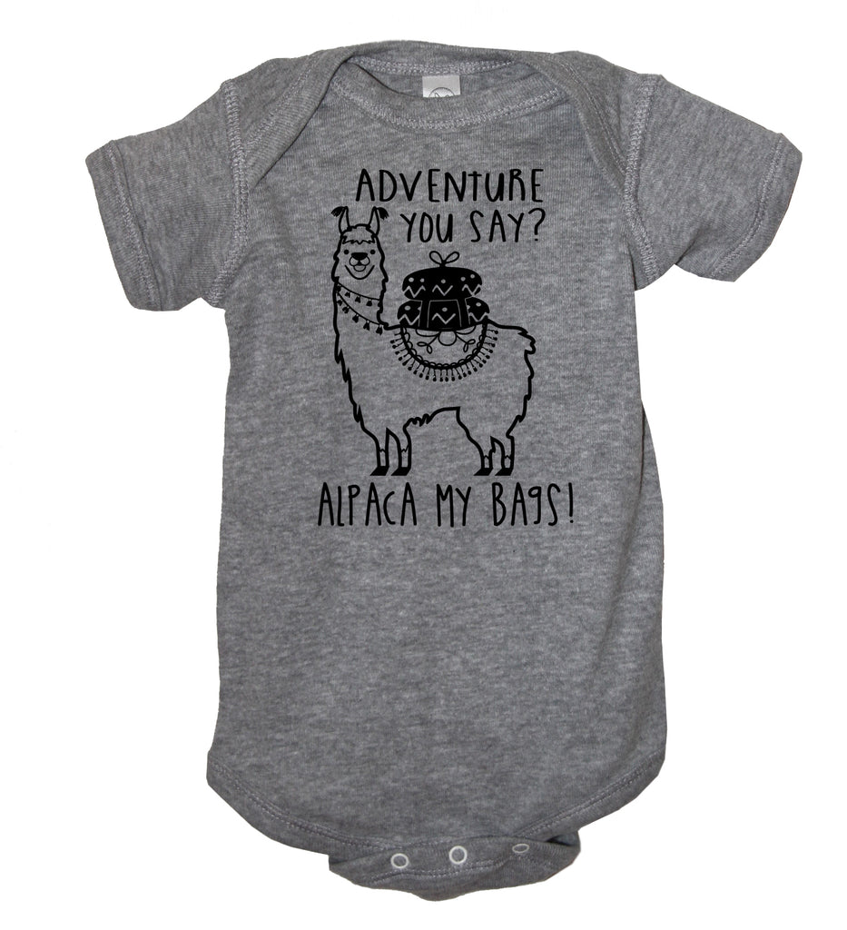 Adventure You Say Alpaca My Bags Baby Bodysuit - It's Your Day Clothing