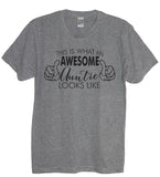 This Is What An Awesome Auntie Looks Like Crew Neck Shirt - It's Your Day Clothing