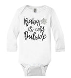 Baby Its Cold Outside baby Long Sleeve Bodysuit - It's Your Day Clothing