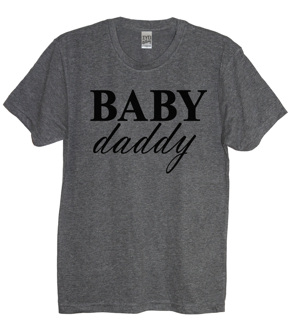 Baby Mama and Baby Daddy Shirt set, Prego, Pregnant, Mom To Be, Baby Shower Gift, Pregnancy announcement , Couples Shirt, Couples Gift - It's Your Day Clothing