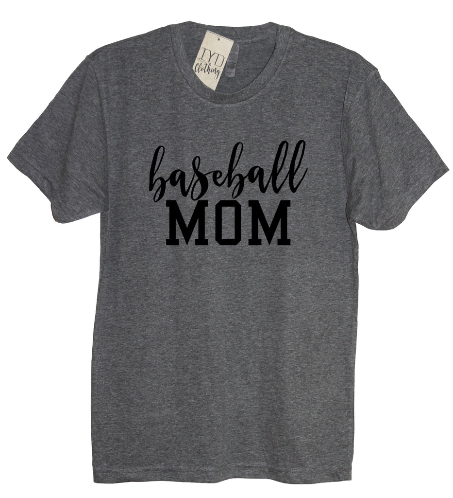 Baseball Mom Crew Neck Shirt - It's Your Day Clothing