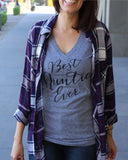 Best Auntie Ever V Neck Shirt - It's Your Day Clothing