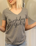 Birthday Girl V Neck Shirt - It's Your Day Clothing