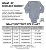 Infant Lap Shoulder Long Sleeve Body Suit Size Chart - It's Your Day Clothing