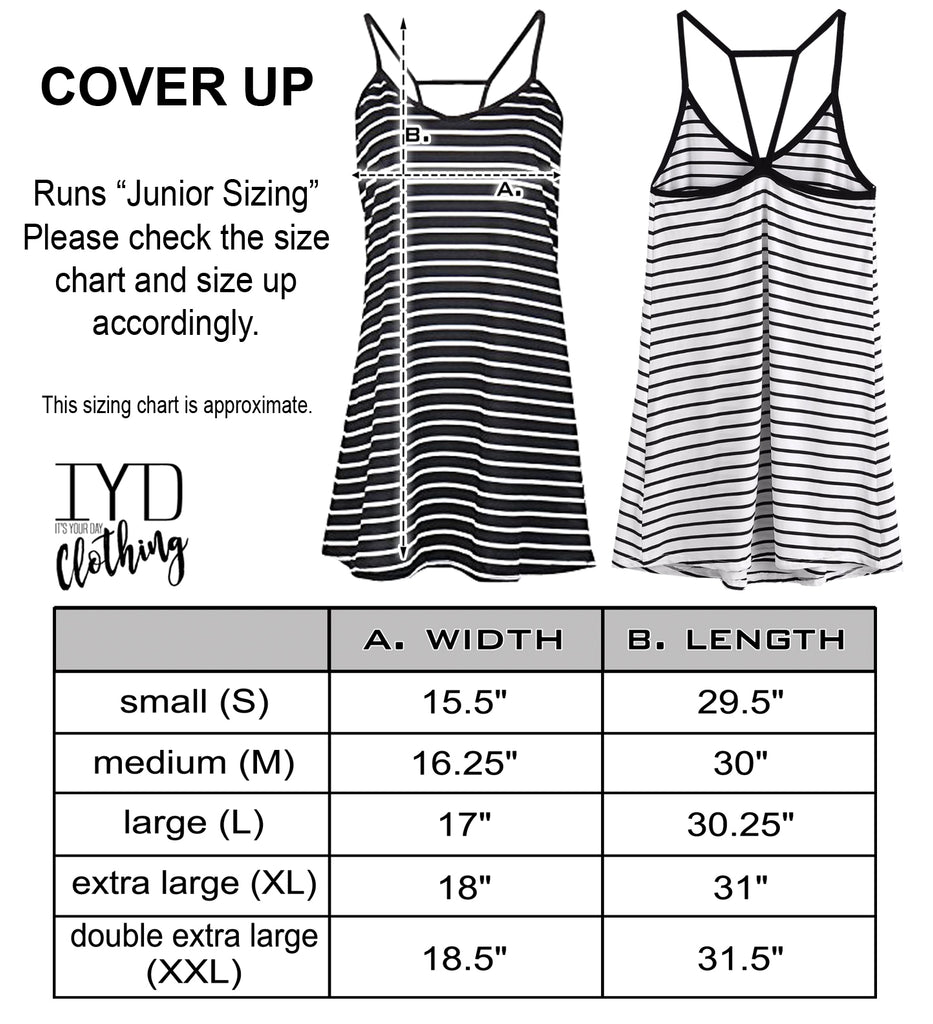 Mrs. Striped Beach Cover Up - It's Your Day Clothing