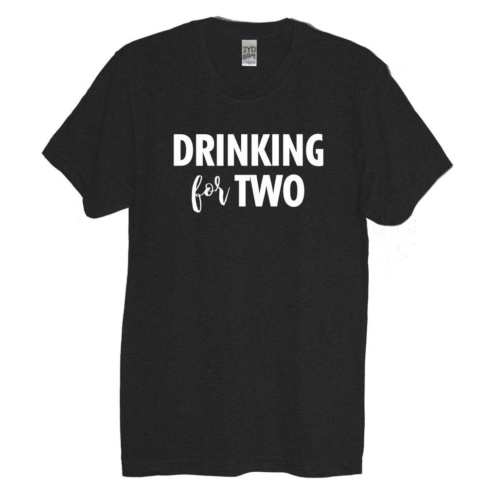 Black Drinking For Two Crew Neck Shirt - It's Your Day Clothing