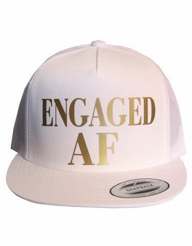 Engaged AF Mesh Snapback Hat - It's Your Day Clothing