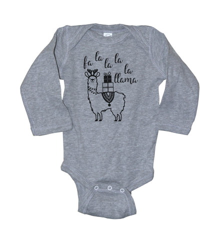fa la la la la la Baby Bodysuit With Llama - It's Your Day Clothing