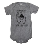 Grandma's you say Alpaca my bags Baby Bodysuit - It's Your Day Clothing
