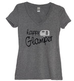 Glitter Happy Glamper V Neck Shirt - It's Your Day Clothing