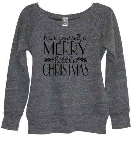 Happy Holla Days Glitter V Neck Shirt