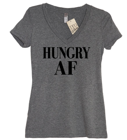 We're Hungry V Neck Shirt