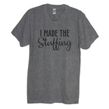 I Made The Stuffing and I'm So Stuffed With A Little Turkey Maternity Couples Shirt - It's Your Day Clothing