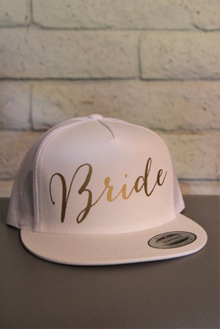 Bride Hat, Bride Snap Back, Bride Trucker Hat - It's Your Day Clothing