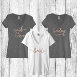 Bridal Party Shirts, Rose Gold, Bridesmaid shirt Rose Gold, Bridesmaid proposal, Wedding, Bride, Bachelorette, Bridal Party,Engaged Shirts - It's Your Day Clothing