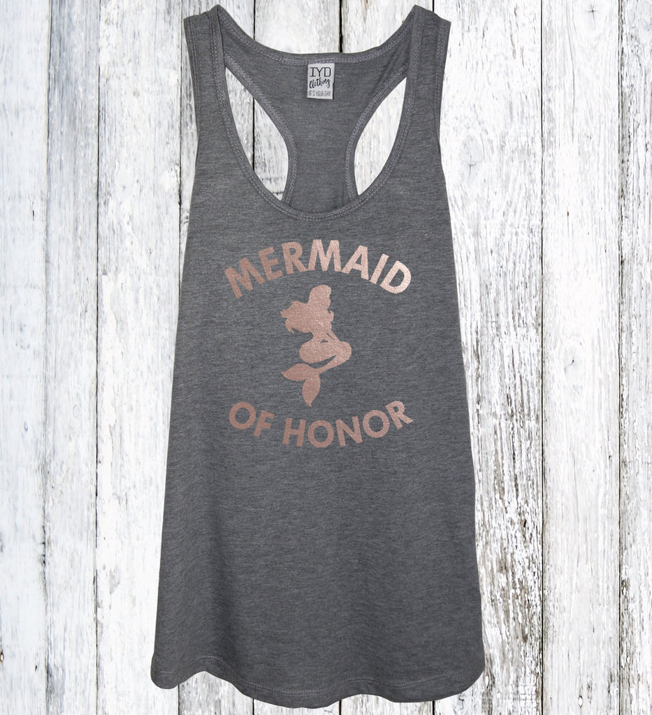 Mermaid of Honor Tank Rose Gold - It's Your Day Clothing