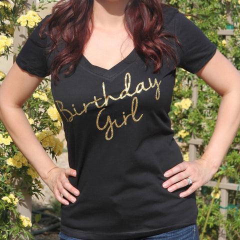 Birthday Girl V Neck Shirt