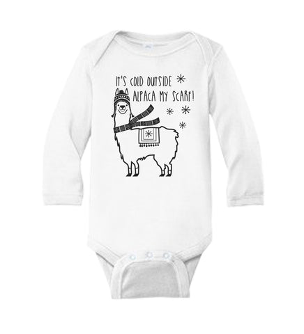 It's Cold Outside Alpaca My Scarf Baby Bodysuit - It's Your Day Clothing