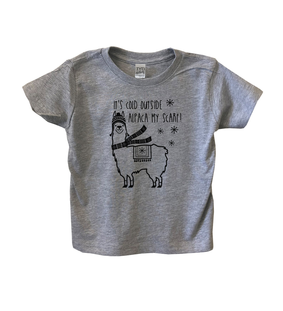 It's Cold Outside Alpaca My Scarf Toddler Shirt - It's Your Day Clothing
