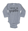 Made In Quarantine Long Sleeve Baby Bodysuit - It's Your Day Clothing