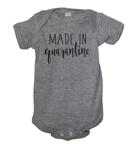 Made In Quarantine With Love Baby Bodysuit