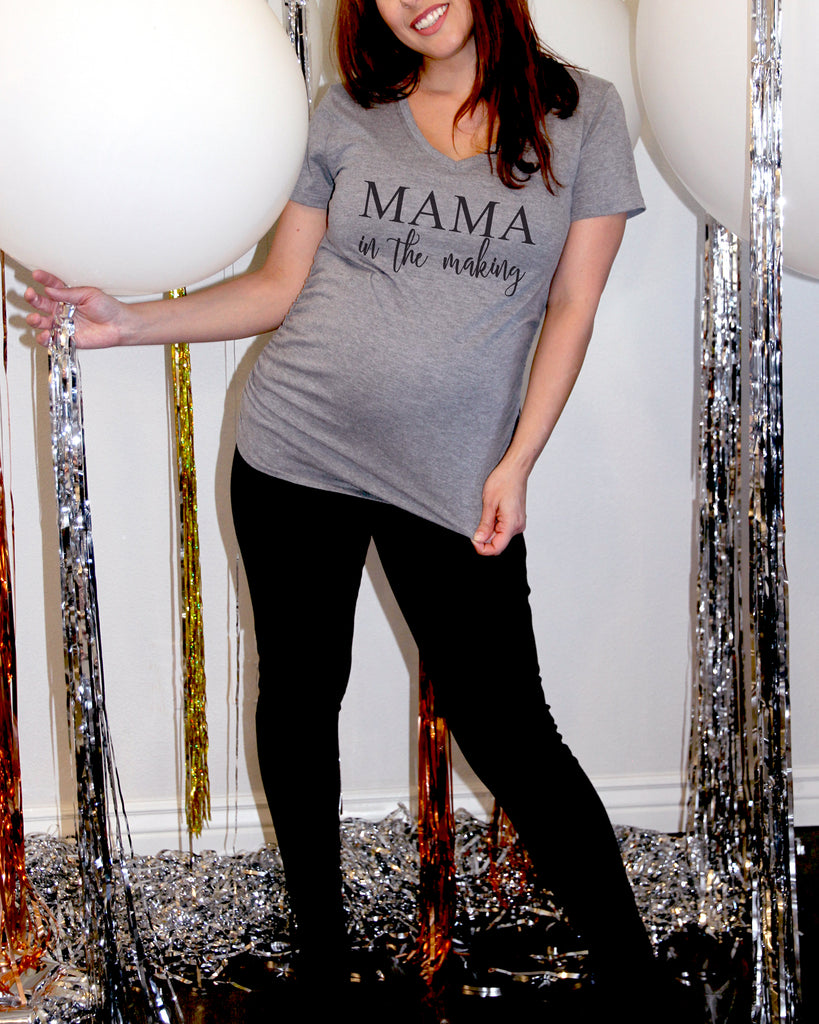 Mama In The Making Maternity V Neck Shirt - It's Your Day Clothing