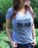 Mama Bear V Neck Shirt - It's Your Day Clothing