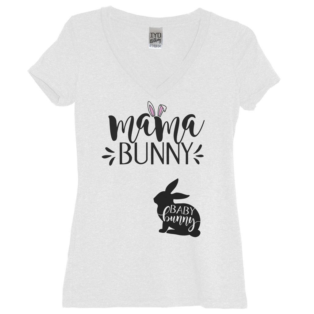 Mama Bunny Baby Bunny Shirt Easter Pregnancy Announcement Women's Shirt - It's Your Day Clothing