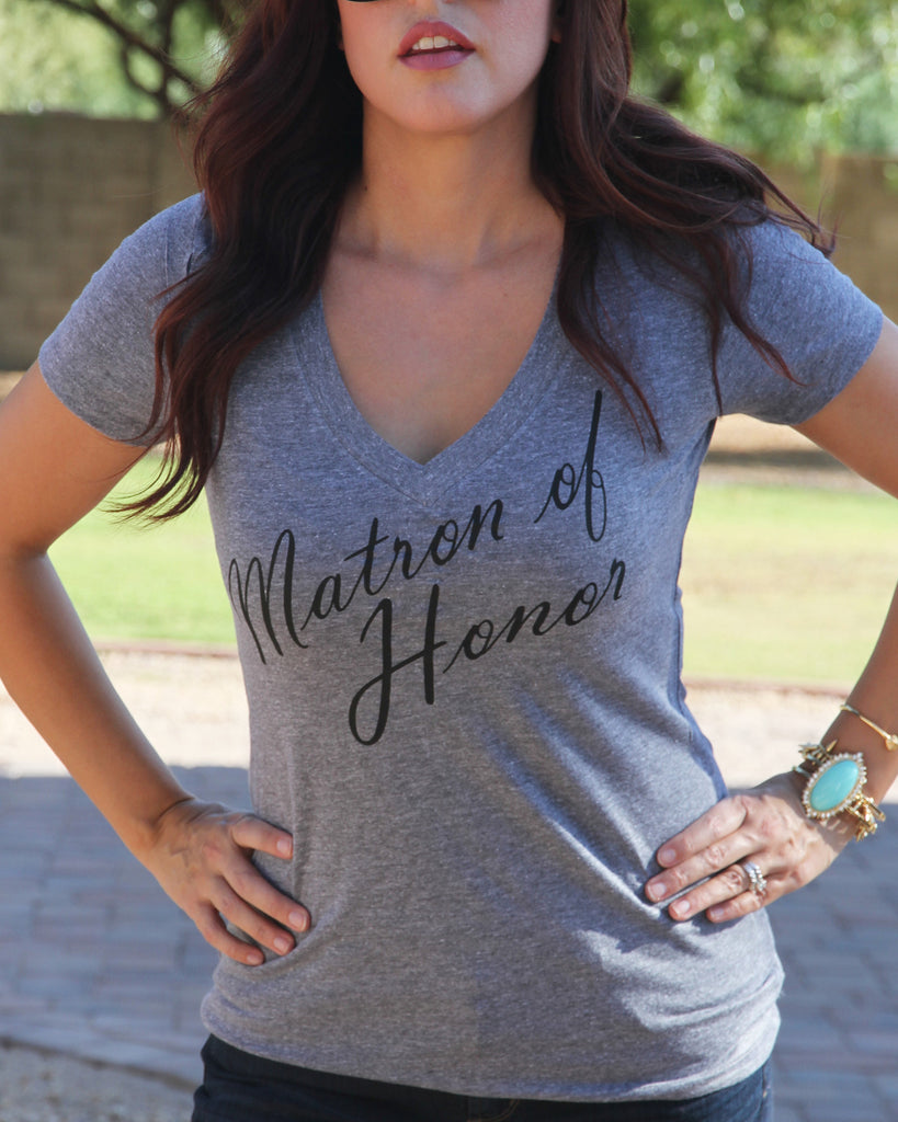 Matron of Honor Mother of the Bride Groom Sister of Bride Groom Shirt - It's Your Day Clothing
