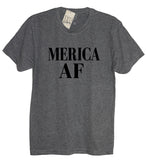 Merica AF Crew Neck, America, Fourth of July, Memorial day, 4th of July, American Flag, Summer Tank Top, Beaches, Pool, American, Lake - It's Your Day Clothing