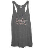 Rose Gold Bridal Party: Bride, Mate of Honor, or Brides Crew Anchor Tank - It's Your Day Clothing
