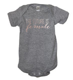 Rose Gold The Future Is Female Bodysuit - It's Your Day Clothing