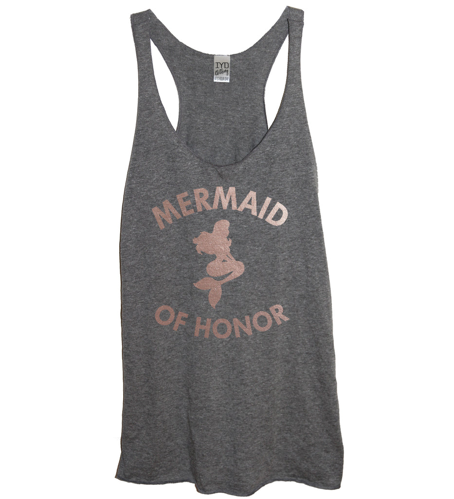 Rose Gold Mermaid Of Honor Tank - It's Your Day Clothing