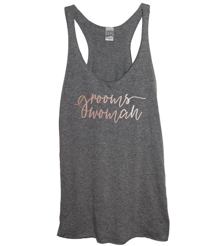 Rose Gold Bridal Party: Groomswoman, Matron Of Honor, or Sister Of The Bride Tank - It's Your Day Clothing