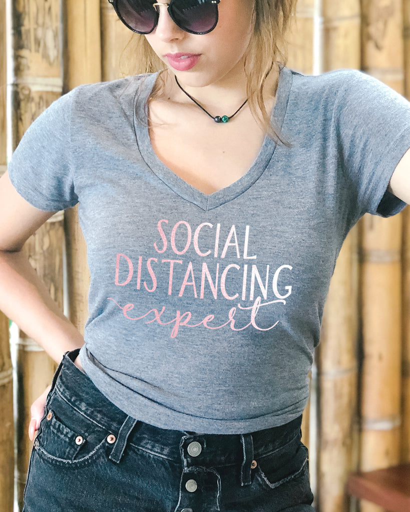 Social Distancing Expert Shirt Rose Gold - It's Your Day Clothing