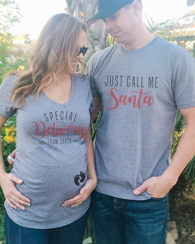 Special Delivery From Santa & Just Call Me Santa Couples Shirts - It's Your Day Clothing