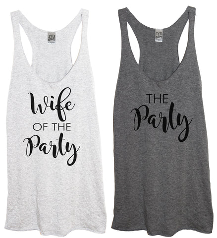 Rose Gold Wife Of The Party or The Party Tank