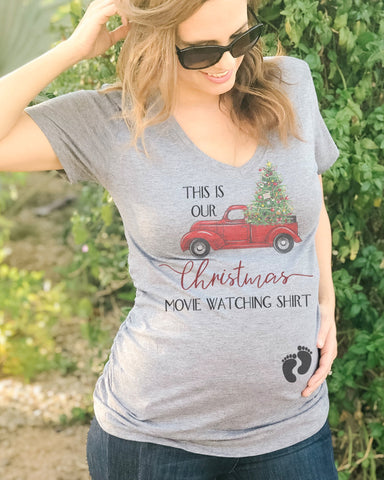 This Is Our Christmas Movie Watching Shirt Maternity - It's Your Day Clothing