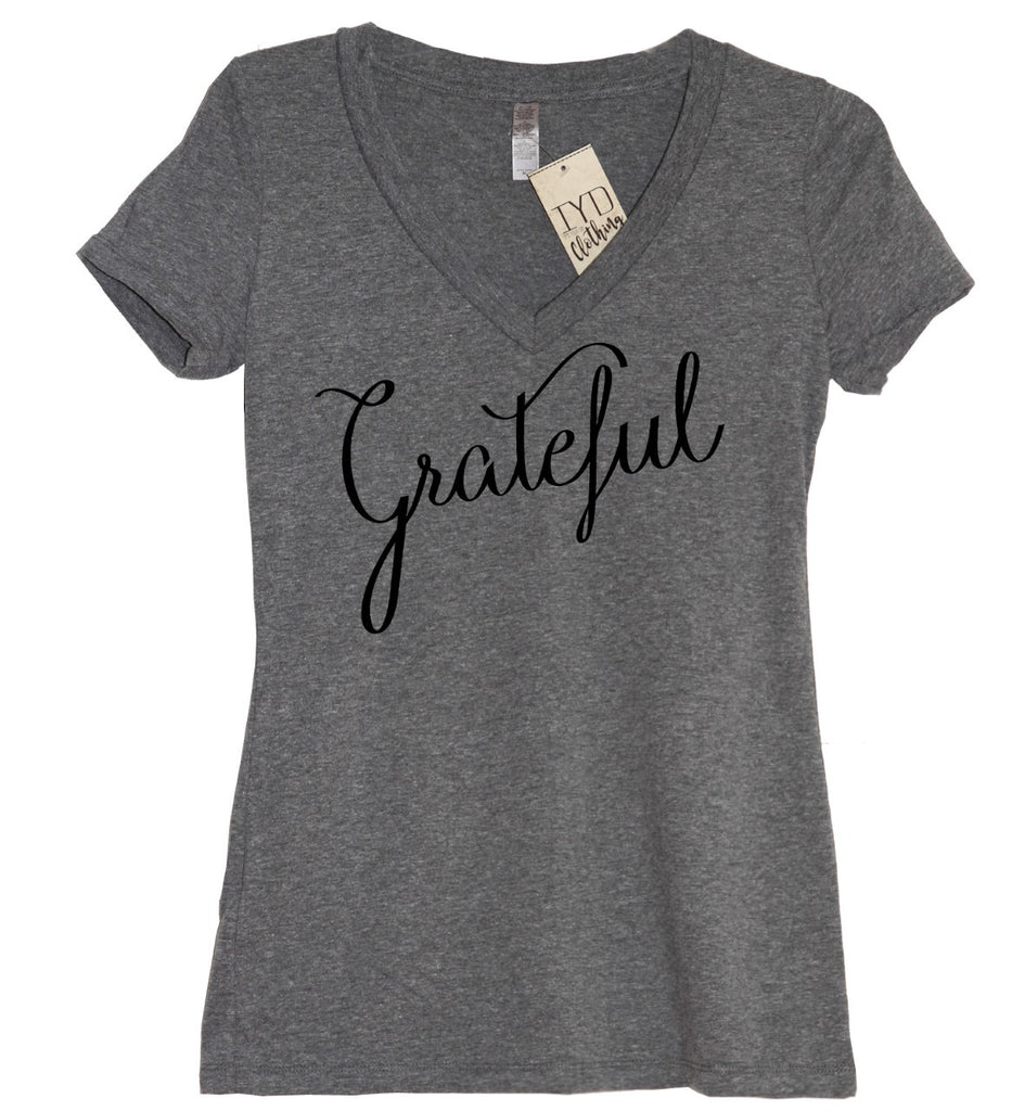 Grateful V Neck Shirt - It's Your Day Clothing