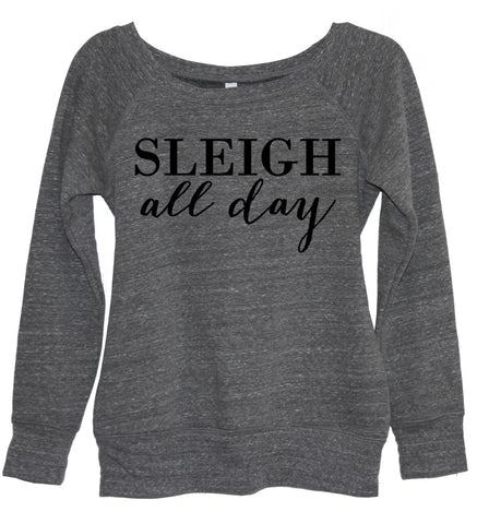 Sleigh Hair Don't Care V Neck Shirt