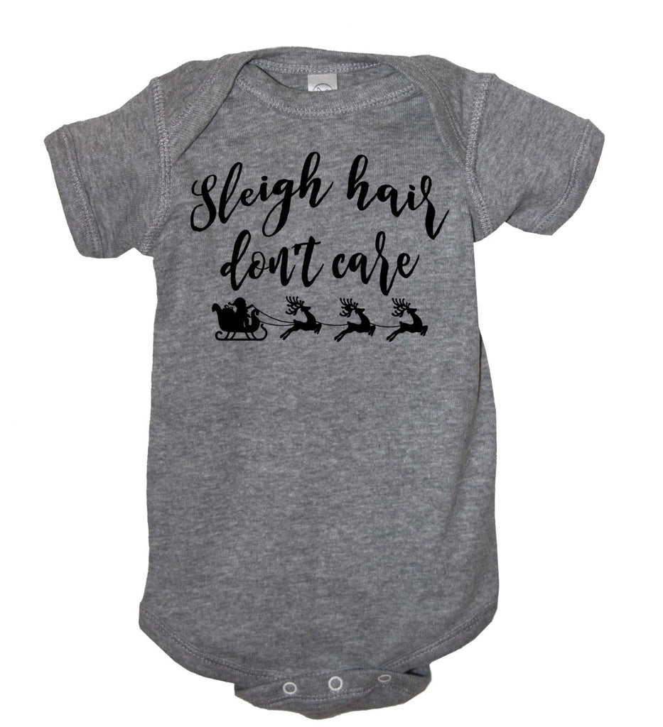 Sleigh Hair Don't Care Bodysuit - It's Your Day Clothing