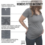 Women's Heather Gray Matertnity V Neck Details - It's Your Day Clothing