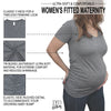 Preggers Maternity V Neck Shirt - It's Your Day Clothing
