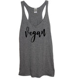 vegan womens racerback tank top