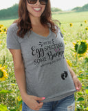 Easter Pregnancy Announcement Shirt We're Eggspecting Somebunny Custom Maternity Shirt - It's Your Day Clothing