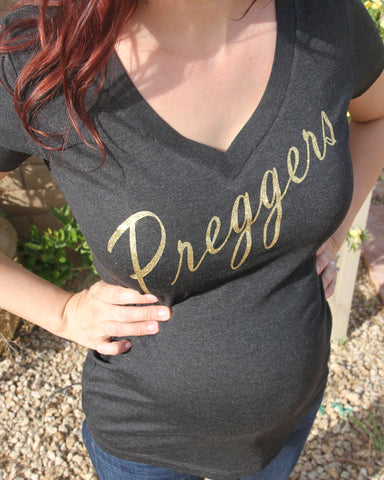 Preggers Glitter Shirt - It's Your Day Clothing