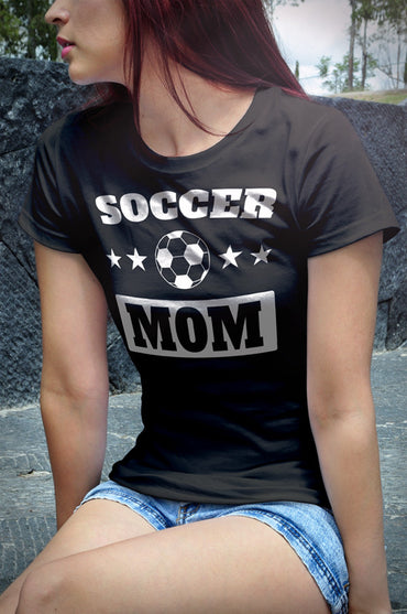Soccer Mom Women's short sleeve t-shirt (White Print on Dark Colors) - 2cooldesigns