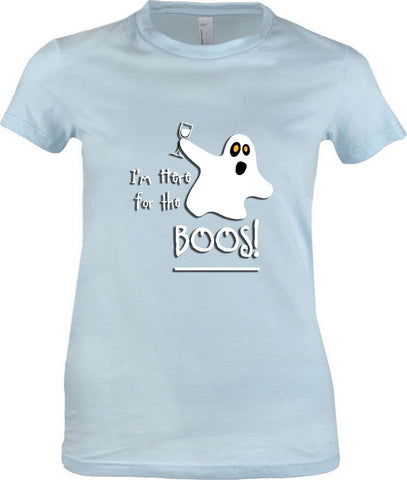 Women's - I'm Here For The Boos Tshirt, American Apparel Women's Tshirt - 2cooldesigns