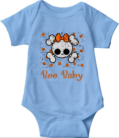 Boo Baby Onsies, Skull and Bones Pullover for Babies and Toddlers - 2cooldesigns