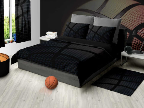 Black Basketball Area Rug - 2cooldesigns